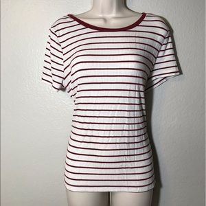Forever 21 Plus Size ribbed stripe tee
